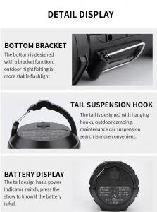 Lanterna LED Supfire M9-E, USB, 775lm, 473m, PowerBank, incarcare USB, 6000mAh, lumina rosie [5]