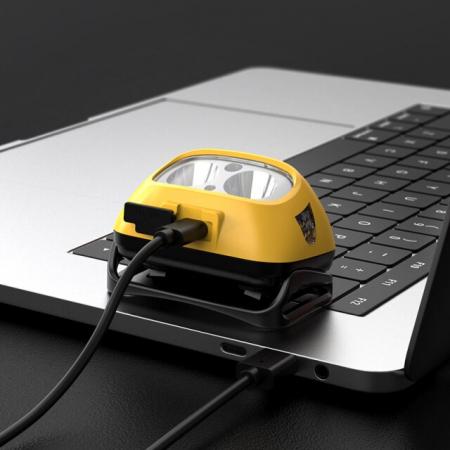 Lanterna LED pentru cap Supfire HL05-S, USB, 500lm, incarcare USB, control miscare mana [3]