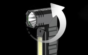 Lanterna Multifunctionala LED Supfire G19, USB, 500lm, 200m, incarcare USB, lumina rosie, suport cap, prindere magnetica [3]
