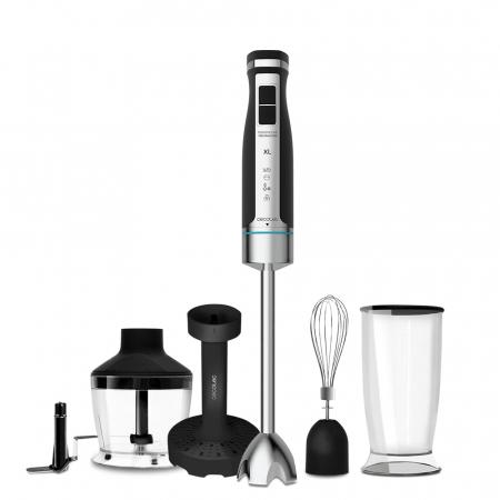 Blender de mana Cecotec PowerGear 1500 XL Mash Pro, 1500 W,  21 de viteze plus turbo, Lame cu titan, Accesorii incluse [0]
