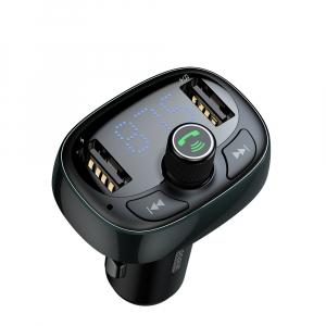 Modulator FM Baseus FM T-Type Bluetooth MP3 incarcator masina Negru - CCALL-TM014