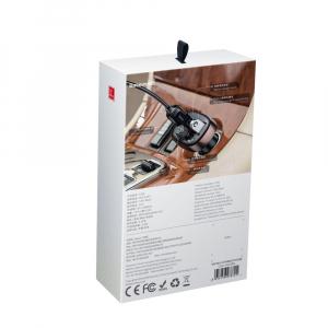Modulator FM Baseus FM T-Type Bluetooth MP3 incarcator masina Negru - CCALL-TM017