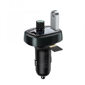 Modulator FM Baseus FM T-Type Bluetooth MP3 incarcator masina Negru - CCALL-TM010