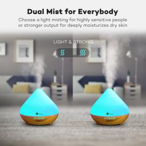 Pachet Difuzor aroma cu Ultrasunete TaoTronics TT-AD002, cu Set 6 uleiuri esentiale6