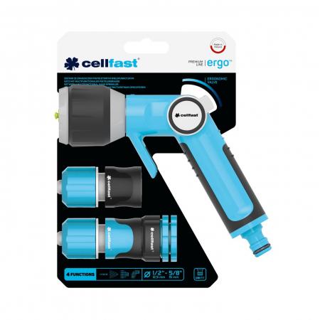 """Set pistol multifunctional Cellfast ERGO conectori 1/2 """"- 5/8"""" [2]"""