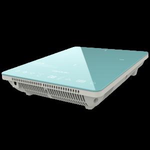 Plita cu inductie Cecotec Full Crystal Scarlet, 2000W, Touch control, 2000W, cu ecran digital, control tactil, 10 niveluri, Albastru0