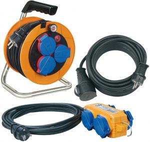 Set Prelungitor Exterior Brennenstuhl Power-Pack IP44 cu tambur, 3 prize, 10m H07RN-F 3G1,5, prelungitor 10m H07RN-F 3G1,5 Prelungitor 5 m cu priza H07RN-F 3G1,5 [0]