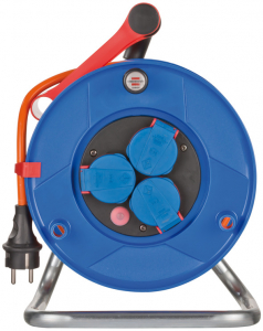 Prelungitor Exterior Brennenstuhl Garant cu tambur , 3 prize, AT-N07V3V3-F 3G1,5, 25m, IP44 [3]