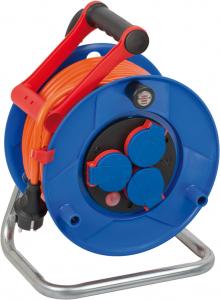 Prelungitor Exterior Brennenstuhl Garant cu tambur , 3 prize, AT-N07V3V3-F 3G1,5, 25m, IP44 [0]