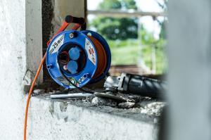 Prelungitor Exterior Brennenstuhl Garant cu tambur , 3 prize, AT-N07V3V3-F 3G1,5, 25m, IP44 [6]