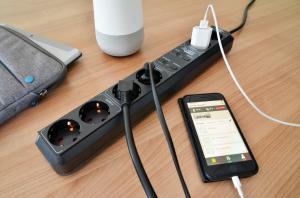 Prelungitor Smart Brennenstuhl Connect Eco-Line WiFi H05VV-F3G1 ,1,5m , 5prize, Alexa, Google [3]