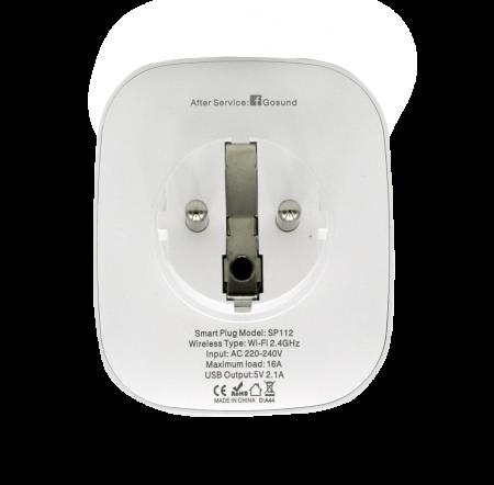 Priza inteligenta WiFi Gosund SP112, 16A, 2X USB, Monitorizare consum energie [2]