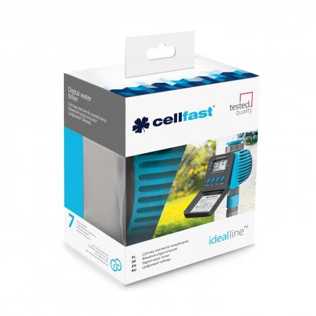 """Programator irigatii CellFast IDEAL, digital, 1-2 surse, 3/4"""" - 1"""", max 6 bar, alimentare pe baterie [1]"""