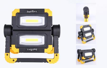 Proiector LED portabil SupFire G7, 20W, 2000lm, reincarcabil, COB, Acumulator 5000mAh [2]