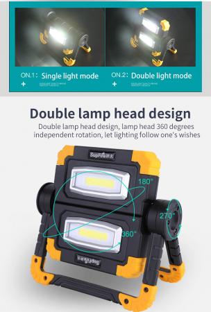 Proiector LED portabil SupFire G7, 20W, 2000lm, reincarcabil, COB, Acumulator 5000mAh [11]