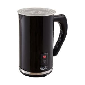 Aparat pentru spumare lapte ADLER AD 4478, 240 ml,500 Wati Functie incalzire lapte, Baza rotativa, Negru0