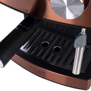 Espressor profesional ADLER AD 4404, 850W, 15 bar, 1.6l, Aramiu [6]