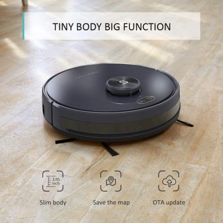 Robot de aspirare Tesvor S6, 2700 Pa, Laser, Autonomie 120 minute, Rezervor lichide si praf, Functie mop [4]