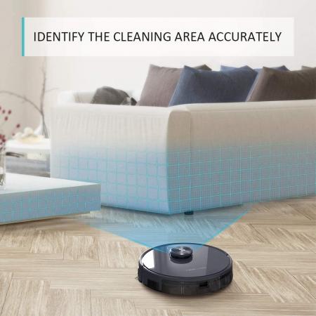 Robot de aspirare Tesvor S6, 2700 Pa, Laser, Autonomie 120 minute, Rezervor lichide si praf, Functie mop [7]