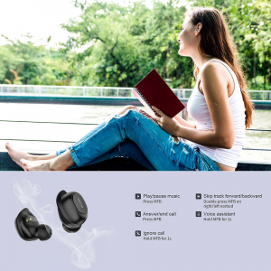 Casti audio In-Ear QCY T9S TW, Bluetooth 5.0,  TWS, True Wireless5