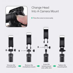 Selfie Stick Tripod BlitzWolf 3 in 1 cu  Lanterna LED si telecomanda detasabila - BW-BS8 [4]