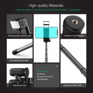 Selfie Stick Tripod BlitzWolf 3 in 1 cu  Lanterna LED si telecomanda detasabila - BW-BS8 [15]