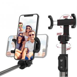 Selfie Stick Tripod TaoTronics TT-ST002, 3 in 1 cu Telecomanda Bluetooth detasabila6
