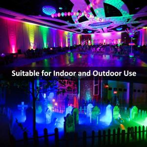 Set 2 proiectoare de podea LED RGB Novostella, Telecomanda , 20W, IP66 waterproof4