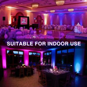 Set 2 proiectoare de podea LED RGB Novostella, Telecomanda , 20W, IP66 waterproof3