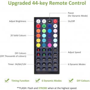 Set 2 proiectoare de podea LED RGB Novostella, Telecomanda , 60W, IP66 waterproof [5]
