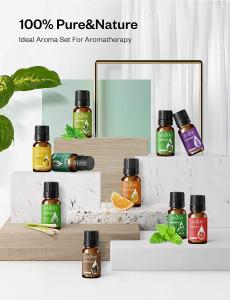 Set Difuzor aromaterapie Anjou AJ-PCN082 cu 8 uleiuri esentiale pure6