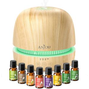 Set Difuzor aromaterapie Anjou AJ-PCN082 cu 8 uleiuri esentiale pure0