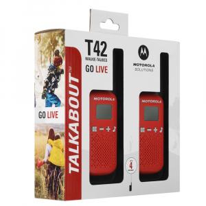 Statie radio PMR portabila Motorola Talkabout T42 RED, set 2 buc2