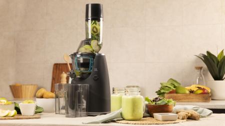 Storcator de fructe si legume cu melc Cecotec Juice&Live 1500 Pro, 250 W, Recipient suc, Recipient pulpa, Functie Reverse, Negru/Inox - Resigilat [4]