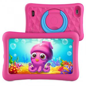 Tableta copii de 7 inch HD Vankyo Z1, Quad-Core Android 8.1 Oreo 1GB, 32GB - Roz1
