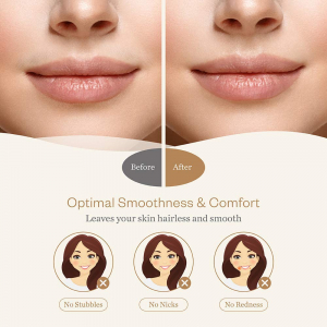 Trimmer facial femei Anjou AJ-PCA014, Lumina LED, pentru mustata, par facial [1]