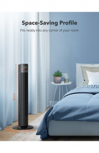 Ventilator turn TaoTronics TT-TF002, 60W, telecomanda, 3 viteze, display LED, silentios [6]