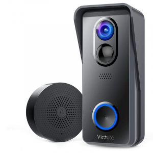 Sonerie Smart Victure VD300 Camera Wireless, 1080P HD, Motion Detection, Cnnvorbire bidirectionala, Wi-Fi Connected, Uunhi larg, Control aplicatie0