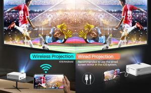 Videoproiector Vankyo  Leisure 470 Bass Edition, Wifi, 4000 Lumeni, LED, HDMI, AV, VGA, USB, SD,Conectare telefon, Telecomanda7