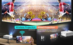 Videoproiector Vankyo  Leisure 470 Bass Edition, Wifi, 4000 Lumeni, LED, HDMI, AV, VGA, USB, SD,Conectare telefon, Telecomanda - Resigilat [7]
