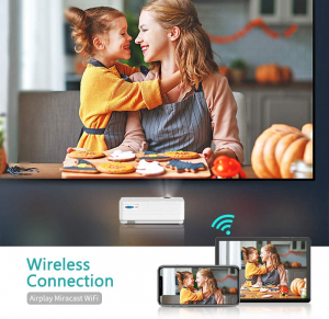 Videoproiector Vankyo  Leisure 470 Bass Edition, Wifi, 4000 Lumeni, LED, HDMI, AV, VGA, USB, SD,Conectare telefon, Telecomanda5