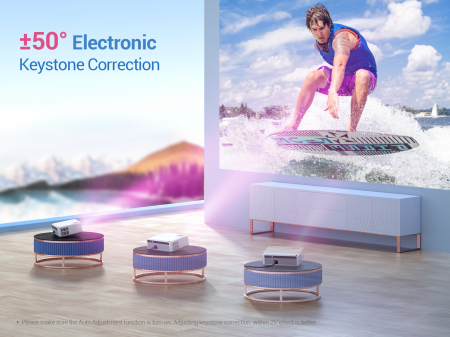 Videoproiector VANKYO Performance V630W, 6000 Lumeni,Wifi,  Native 1080p, LED, HDMI, VGA, AV, USB, Geanta de transport, Telecomanda, Cablu HDMI [5]