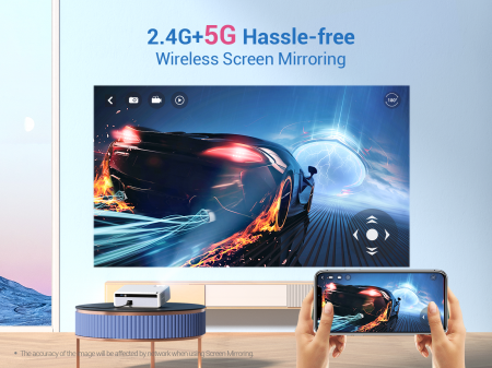 Videoproiector VANKYO Performance V630W, 6000 Lumeni,Wifi,  Native 1080p, LED, HDMI, VGA, AV, USB, Geanta de transport, Telecomanda, Cablu HDMI [6]