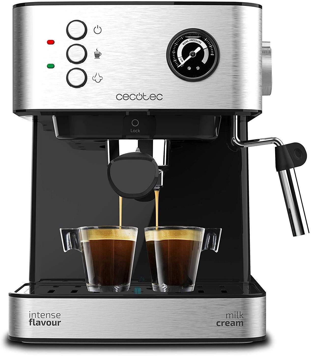 Espressor profesional Cecotec Power Espresso 20 Professionale, 850 W, 20 bar, 1.5 l, indicator luminos
