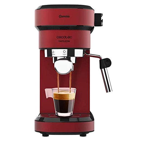 Espressor manual Cecotec Cafelizzia 790 Shiny 1583, 1350 W, Pompa de aburi 20 bar, Sistem de incalzire rapid, Capacitate 1.2 L