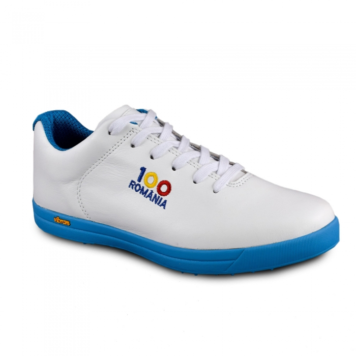 Sneaker box Centenar GARANTIE 365 ZILE - Alb/Albastru 3