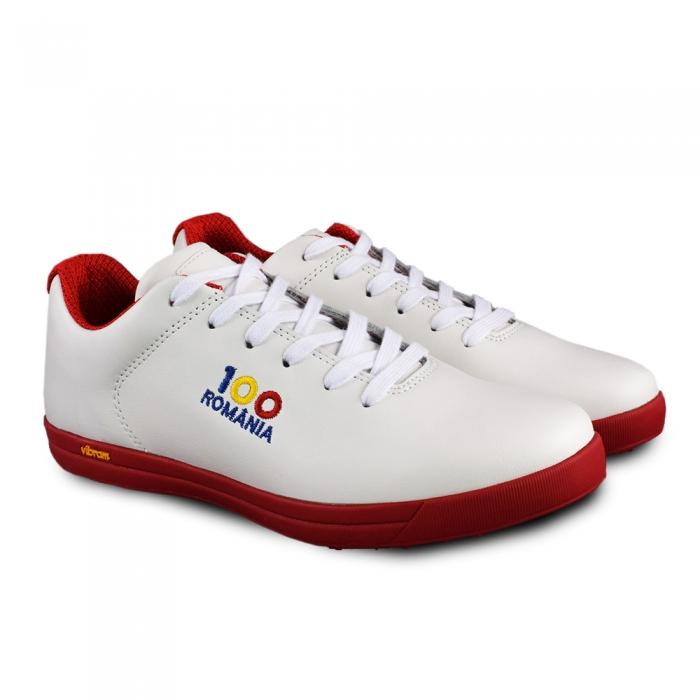 Sneaker box Centenar GARANTIE 365 ZILE Alb/rosu 1