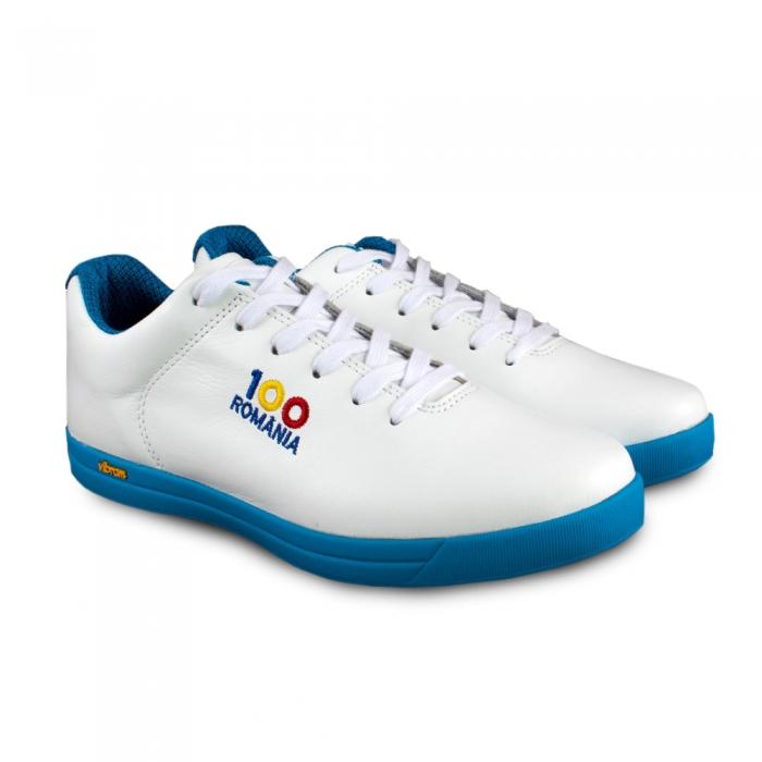 Sneaker box Centenar GARANTIE 365 ZILE - Alb/Albastru 0