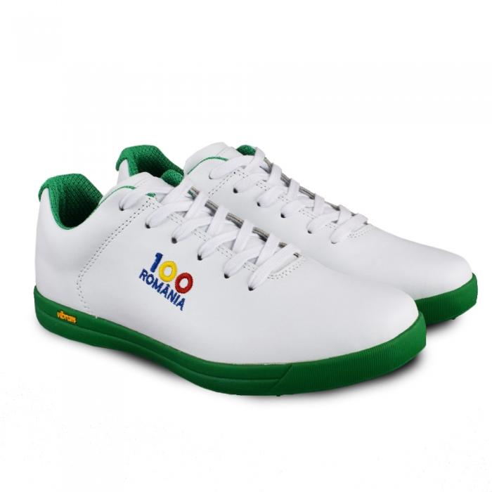 Sneaker box Centenar - Alb/Verde 2