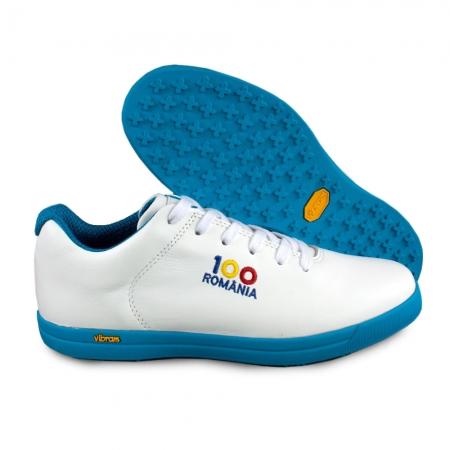 Sneaker box Centenar GARANTIE 365 ZILE - Alb/Albastru2